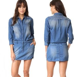 Etienne Marcel Jackie Denim Mini Shirt Dress M